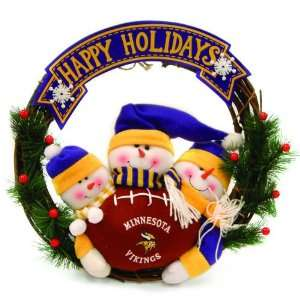20 NFL Minnesota Viking Happy Holidays Triple Snowman