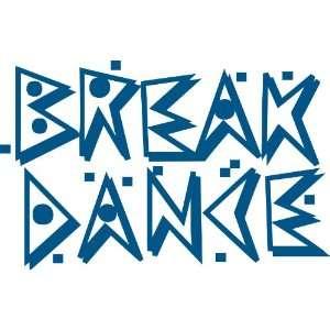 Break Dance Removable Wall Sticker