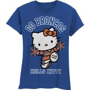 Broncos Hello Kitty Pom Pom Girls Crew Tee Shirt