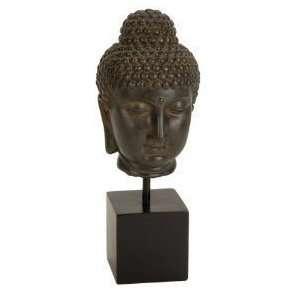 Buddha Head Sculpture Antiques Finished Budha Buddhist Zen Decor 18*8