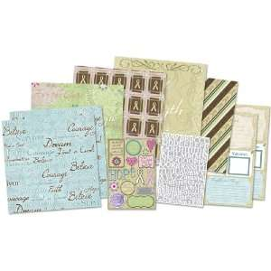 Karen Foster Hope Fight Cure Page Kit 12X12 Electronics
