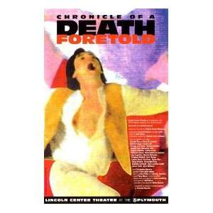 CHRONICLE OF A DEATH FORETOLD (ORIGINAL BROADWAY THEATRE WINDOW CARD