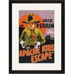 Framed/Matted Print 17x23, The Apache Kids Escape