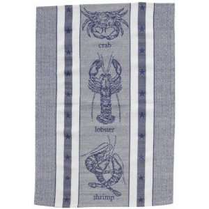 Crustacean Crab Lobster Shrimp Jacquard Dishtowel Towel