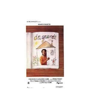 Da Grande Framed Poster Movie Italian 13 x 28 Inches