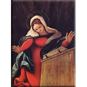 Virgin Annunciated 22x30 Streched Canvas Art by Lotto