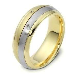 Platinum and 18 Karat Gold 6mm SPINNING Comfort Fit Wedding Band Ring