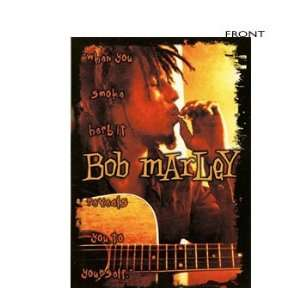 Bob Marley   Smoking Herb & Guitar Sticker Home & Kitchen