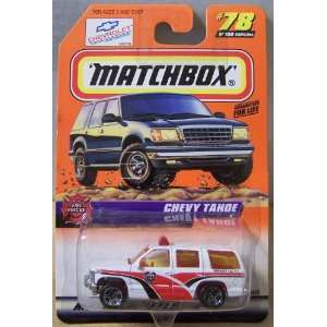 Matchbox Fire Rescue Chevy Tahoe White/Red #78 Toys & Games