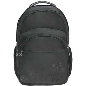 Shadow Floral Laptop Computer Backpack School Bag w/Headphone port