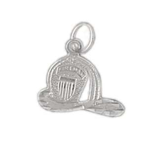 Clevereves 14K White Gold Pendant Fire Fighting 0.9