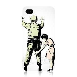 Ecell   BANKSY GIRL SEARCHING A SOLDIER GRAFFITI WHITE BACK CASE FOR
