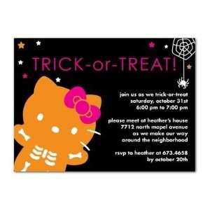 Halloween Party Invitations   Hello Kitty Halloween Treat
