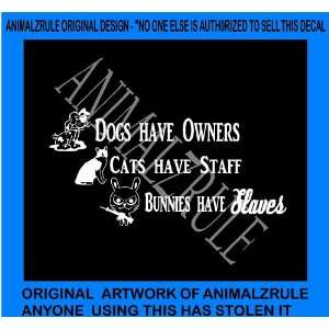 DOG CAT RABBIT VINYL DECAL