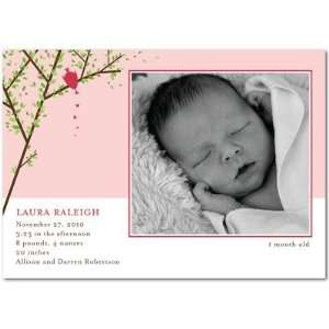 Girl Birth Announcements   Love Tweets Tea Rose By Petite Alma Baby