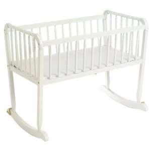 Jenny Lind White Rocking Cradle   5450 1 Baby