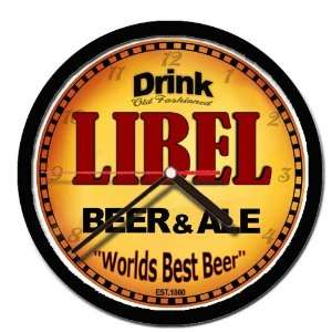 LIBEL beer and ale cerveza wall clock: Everything Else