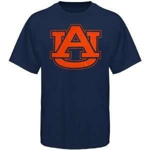 Auburn Tiger Shirts  Auburn Tigers Navy Blue Logo One T