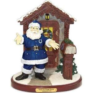 Indianapolis Colts NFL Welcome Home Santa Figurine