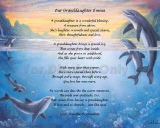 Personalized Granddaughter Poem Granddaughter Gift