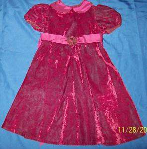 Bonnie Jean girls Holiday party velvety dress 6 Vguc