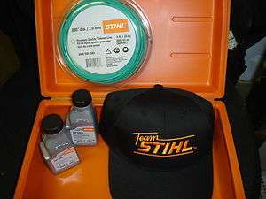 STIHL CURVE SHAFT LINE TRIMMER LAWN CARE KIT INCLUDES HAT 2 CYCLE OIL
