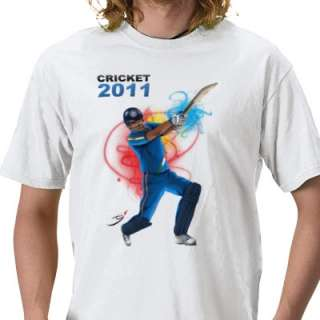 Cricket 2011 Support India Tee Shirt from Zazzle