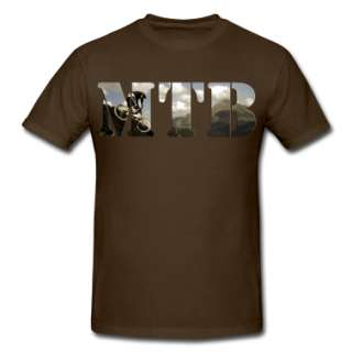 Mountain Bike Shirt | Mens Heavyweight T Shirt designed by i love t