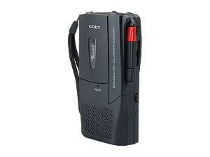 COBY CXR123 Voice Activated Micro Cassette Recorder