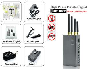 High Power Portable Signal Jammer for GPS, Cell Phone, WiFi (Extreme