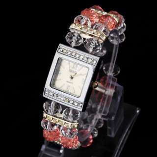 Christmas Gift Personal Present Girl Lady Watch Plastic Beads Wrist