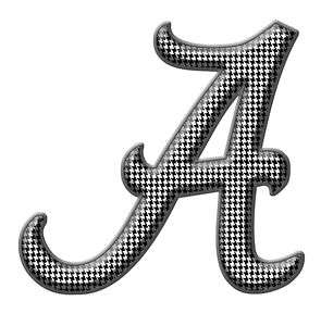 Hounds Tooth Alabama A Football Printed Decal Sticker
