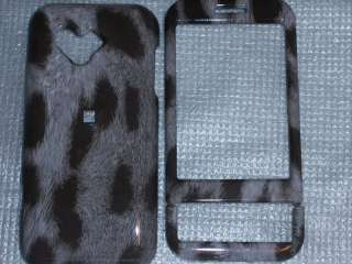HTC G1 Android Google Phone Cover Gray & Black Animal Print