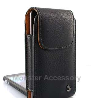 Luxmo Leather Vertical Case Pouch Holster Apple iPhone 4S NEW