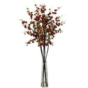 Cherry Blossoms Silk Flower Arrangement w/ Vase