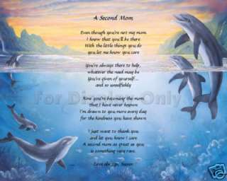 Personalized Poem For Second Mom Stepmother Gift Idea
