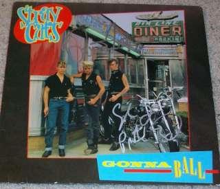 THE STRAY CATS BRIAN SETZER & SLIM JIM PHANTOM SIGNED GONNA BALL ALBUM