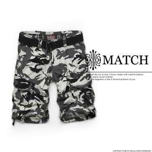 BNWT Match Mens Cargo Shorts White Camouflage Sz 30 36