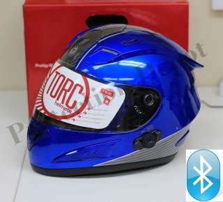 Prodity T10B BLINC Full Face Bluetooth Motorcycle Helmet   Blue Carbon