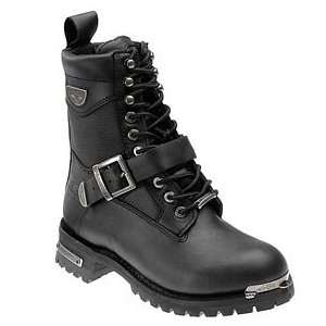 Company Renegade Leather Mens Motorcycle Boots (Size 10.5EEE, Black