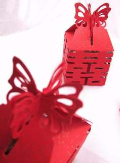 ASIA CHINESE WEDDING GIFT FAVOR LOVE DIY RED CANDY BOX