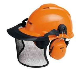 STIHL ARBORIST BIRCH ORANGE HARD HAT HELMET EAR DEFENDERS & VISOR