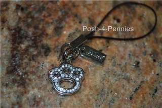 NEW COACH PAVE PUPPY DOG PAW CELL PHONE LANYARD CHARM