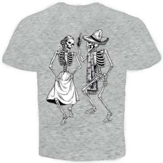 Dancing Skeleton bones skull cool Funny T shirt S 2X