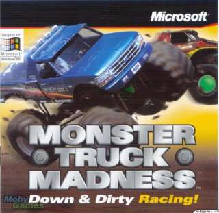 Monster Truck Madness PC CD dirt track drag racing big race water sand