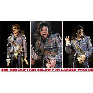 MICHAEL JACKSON DANGEROUS TOUR MOVES (3) RARE 8x10 FINE