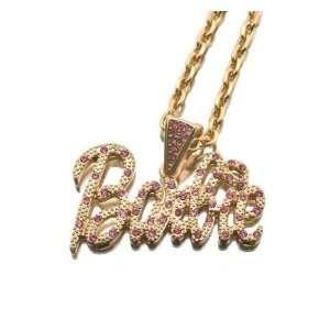 NICKI MINAJ BARBIE Pendant w/18 Chain Gold Small NEW Pink