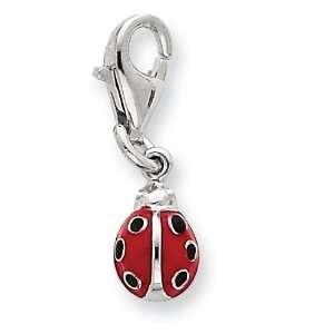 Silver Red Enameled Lady bug Charm West Coast Jewelry Jewelry