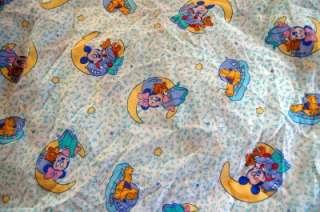 Disney Baby Mickey Minnie Pluto Fitted Crib Sheet NICE
