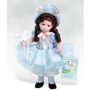 Little Bo Peep, 14 Inch Collectible Girl Doll in Porcelain
